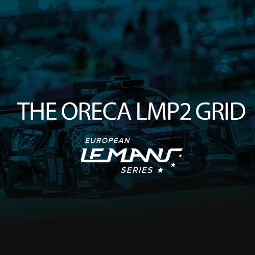 The Oreca LMP2 grid in European Le Mans Series
