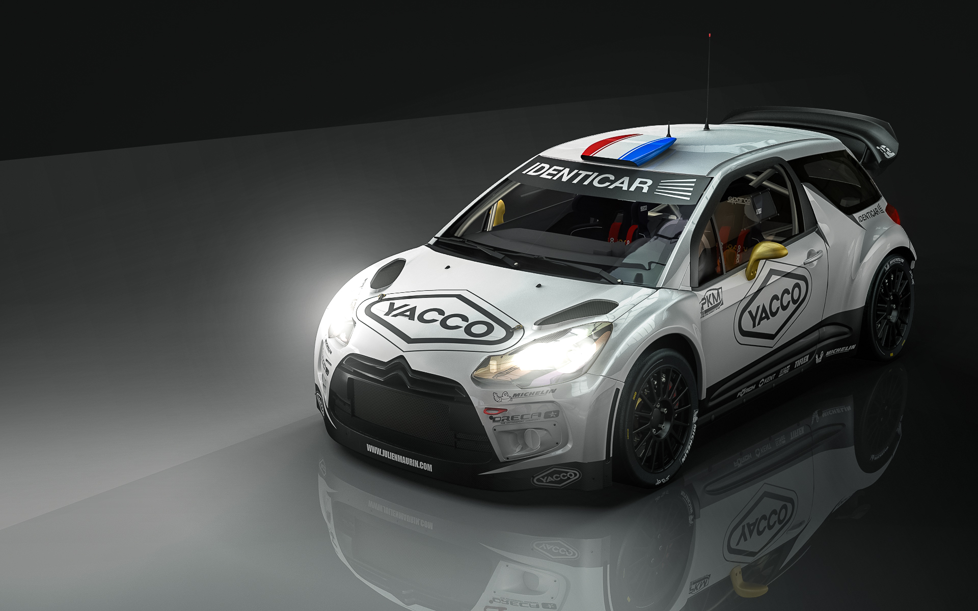 julien maurin au volant d une ds3 wrc en championnat de france des rallyes terre oreca. Black Bedroom Furniture Sets. Home Design Ideas